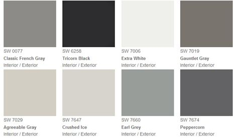 Fashion grey paint gray pantone swatches shades of grey Different colours of grey paint