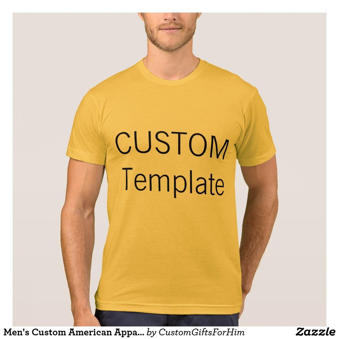 d344f0a56 Men's Custom American Apparel T-Shirt HEATHER GOLD   Zazzle.com ...