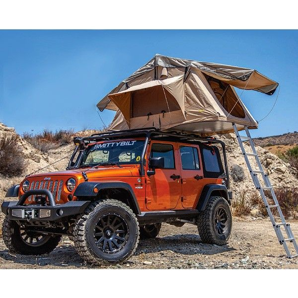 Smittybilt Overlander Tent 01 Camping Jeep Roof Rack