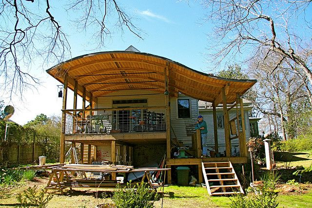 Deck With S Curve Roof House Roof Roof Architecture Roof Design