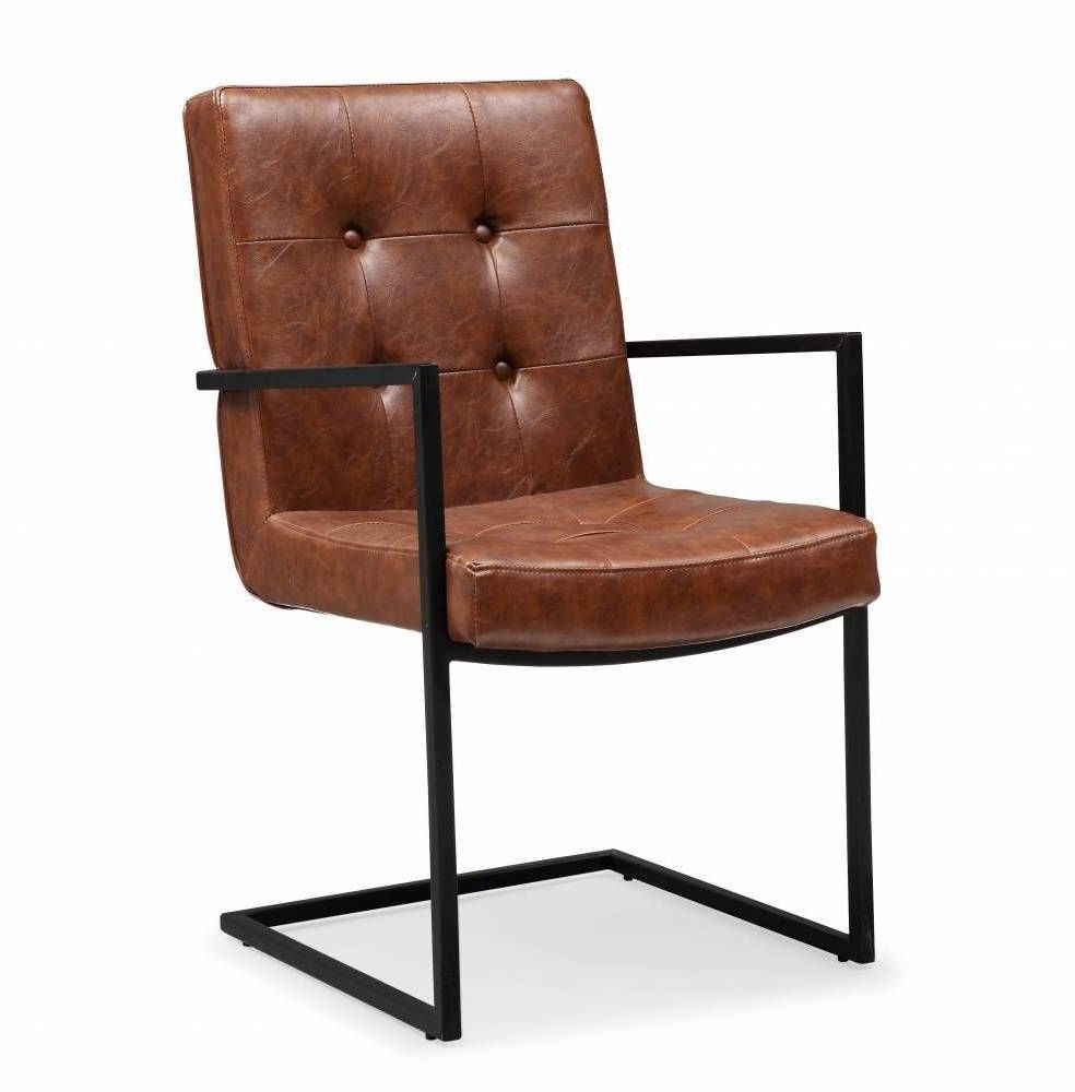 Arm Chair Seat Faux Leather Stanley Camel Brown Industrial Mid Century  Modern #Doesnotapply #Industrial #ArmChair #Chair #Furniture #Home