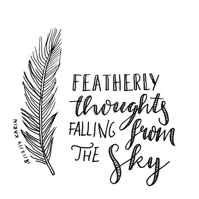 featherly thoughts falling from the sky lettering handlettering typography schrijven. Black Bedroom Furniture Sets. Home Design Ideas