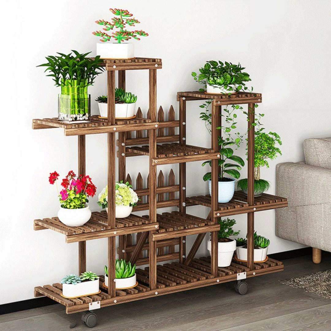 12 beautiful ornamental plant rack designs for your