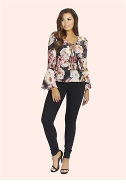 4227ddd39534be Jessica Wright Jemima Floral Blouse £40.00 Look gorgeous in this multi  floral blouse. Why not dress it up with some heels for a formal event or  dress it ...