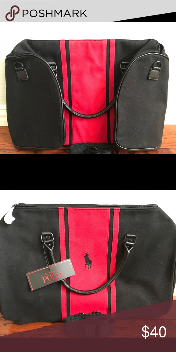 7f9e1ccb60 📌SALE📌 POLO RALPH LAUREN Large Duffel Bag NWT Polo Ralph Lauren black    red