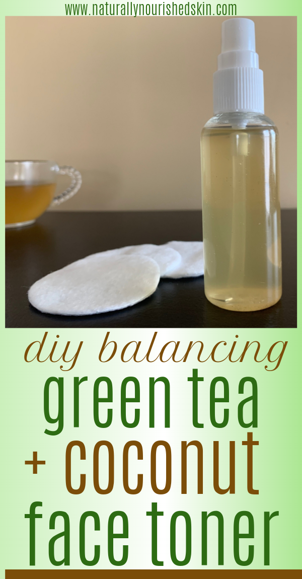 DIY Balancing Green Tea  Coconut Face Toner This DIY face toner is soothing for all skin types