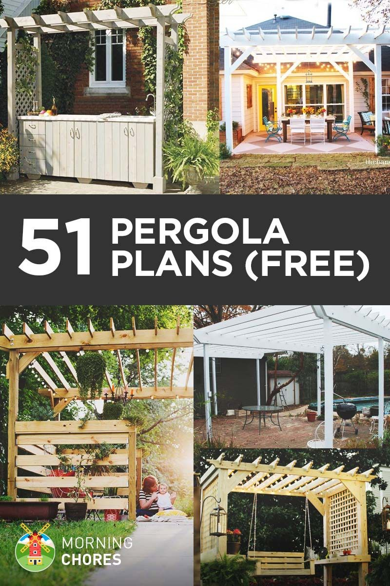 51 Free DIY Pergola Plans U0026 Ideas That You Can Build In Your Garden