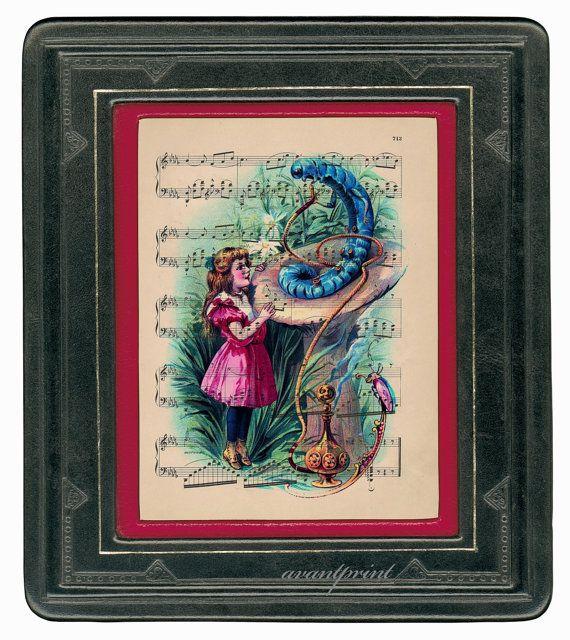The Caterpillar Meets Alice Original Illustrated by AvantPrint, $9.00