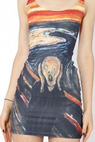 The Scream Dress | Dresses with vans, Black milk clothing