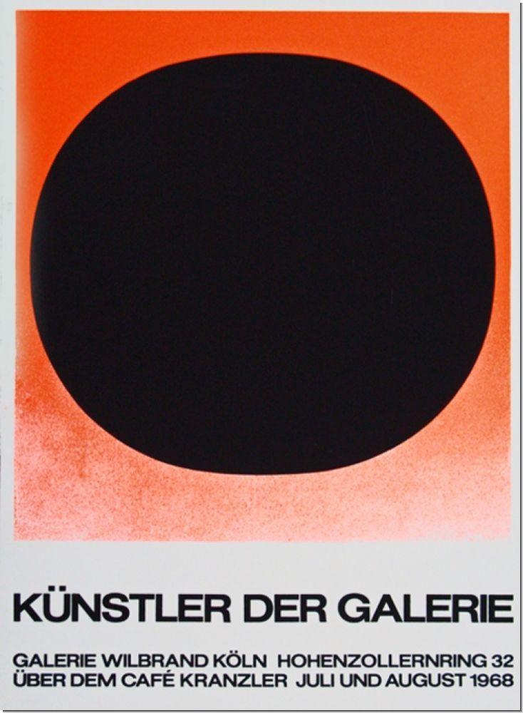 Rupprecht Geiger Galerie Wilbrand 1968 Poster Design Design