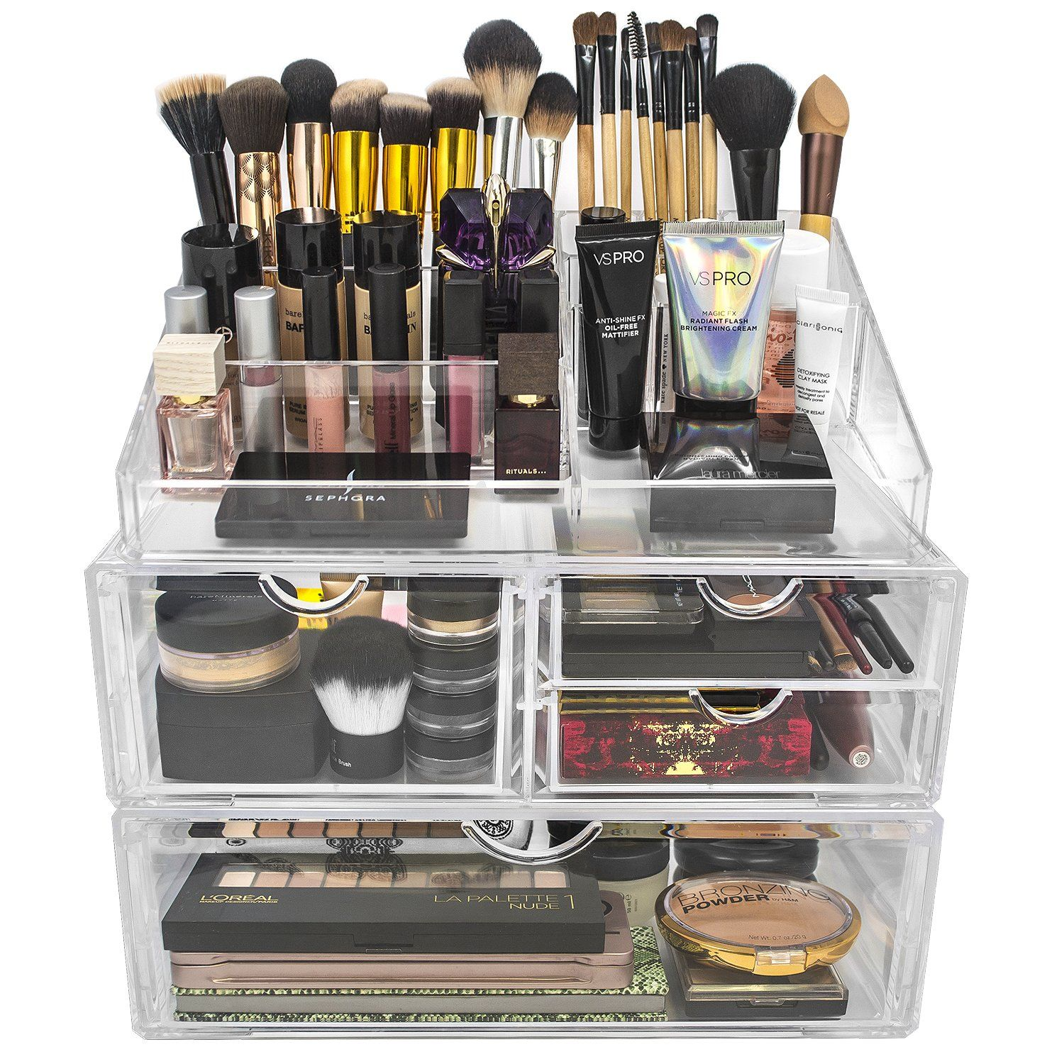 4 Drawer Cosmetic Organizer (With images) Makeup storage