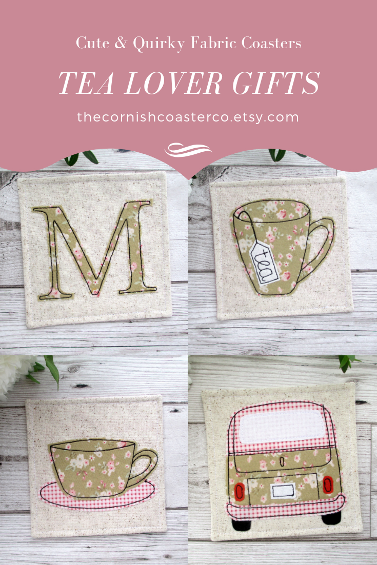 Tea Lover Gifts With A Twist Spring Gift Ideas Fabric Coasters Tea Lovers Gift