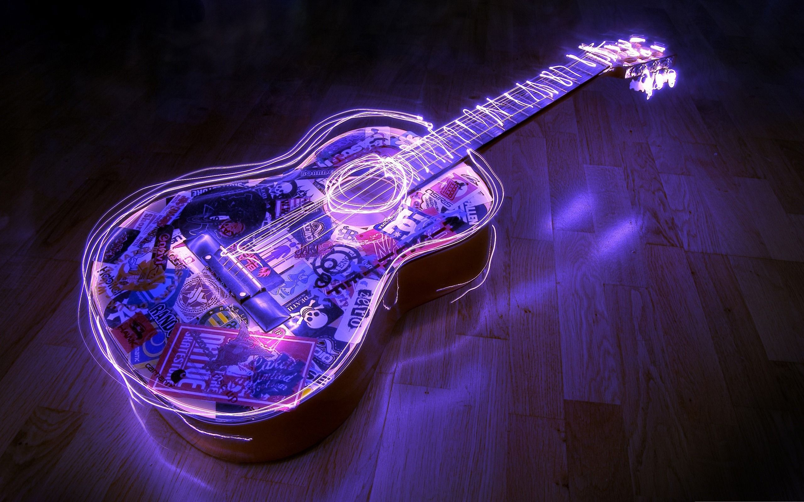 Wallpaper download music - Guitar Creative Art Music Desktop Picture 2560x1600 Wallpaper Download Music Art