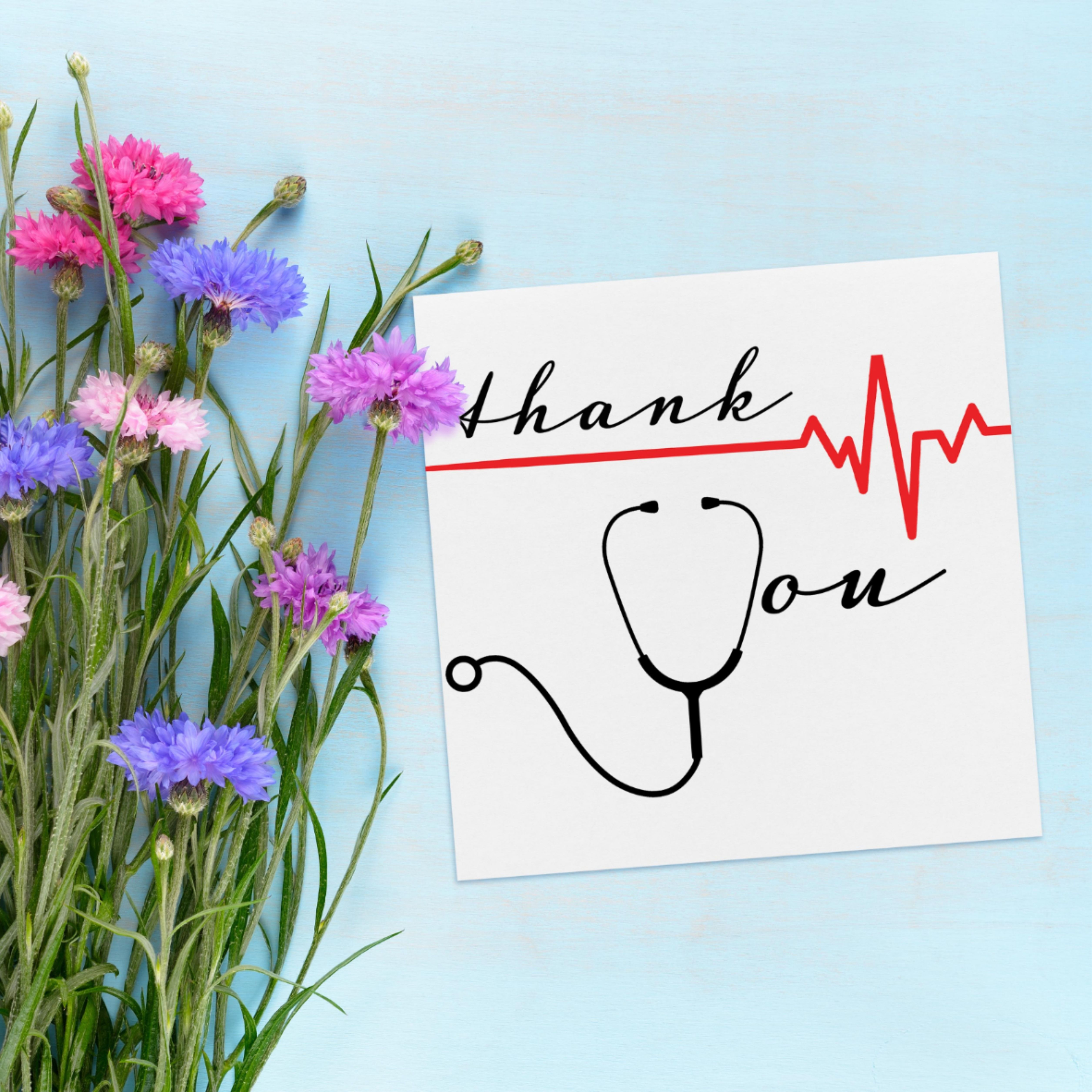 Thank You For All That You Doctor Nurse Thank You Card Appreciation Gifts Diy Thanks Card Diy Postcard