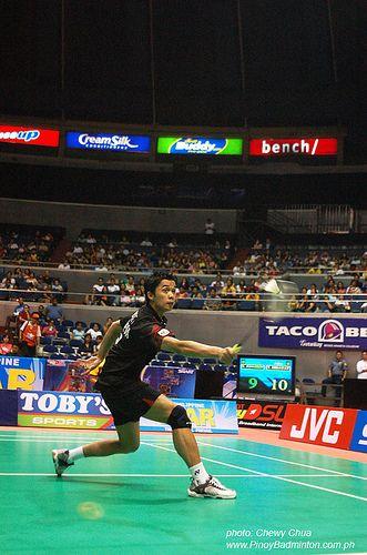 Taufik Backhand Badminton Sweat It Out Athlete