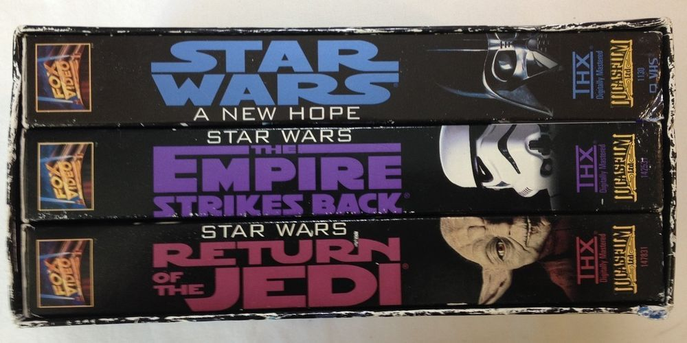 Star Wars Trilogy: A New Hope, Return of the Jedi, Empire Strikes Back: VHS 1995