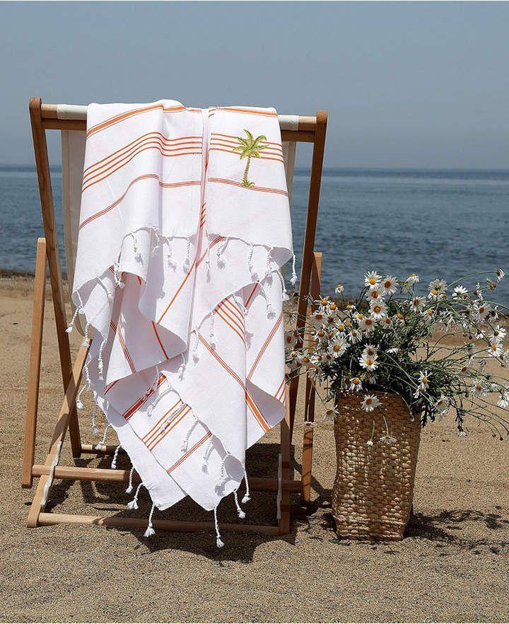 Kess InHouse Robin Dickinson Tree Sky Green Round Beach Towel Blanket