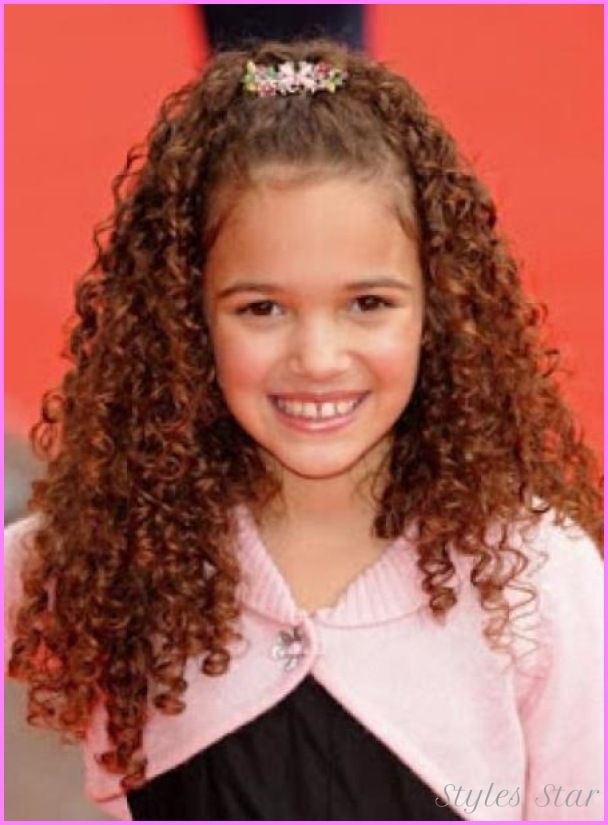 nice Kids haircuts for girls with curly hair