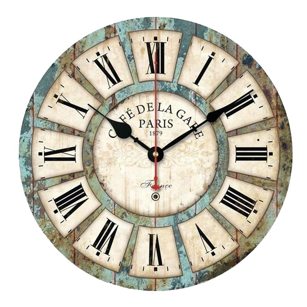 Vintage Wood Roman Wall Clock Rustic Wall Clocks Vintage Wall Clock Wall Clock Wooden