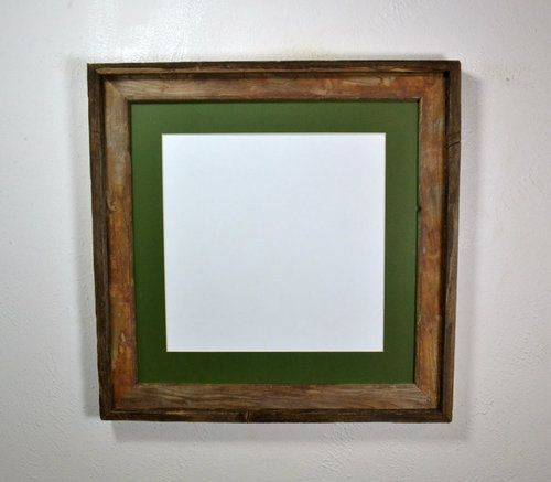 12x12 Mat In Rustic Reclaimed Wood Picture Frame 16x16 Without Mat