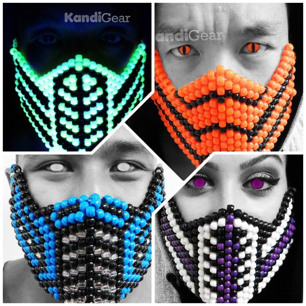 Subzero From Mortal Kombat Kandi Mask Rave Gear For Music Festivals Rave Mask