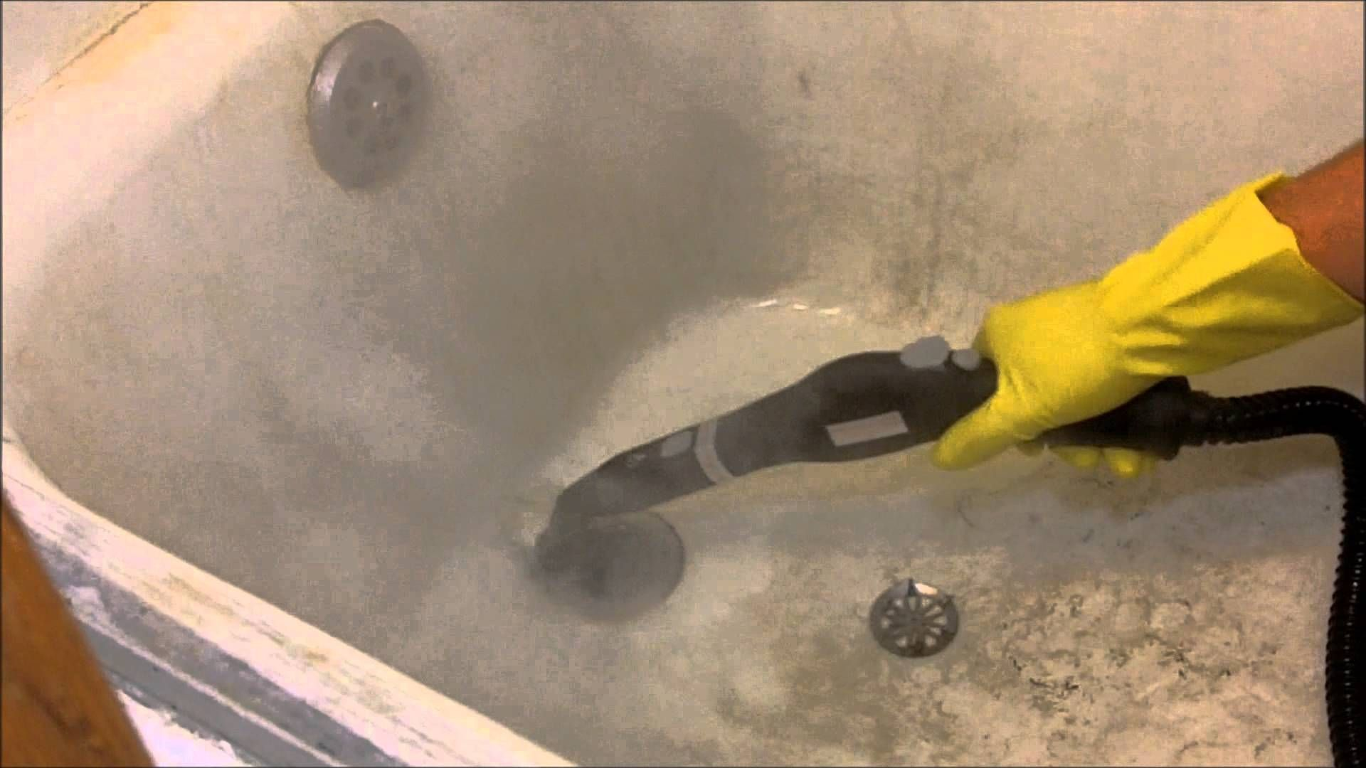 Watch Us Steam Clean The Dirtiest Bathtub Ever Steam Cleaning