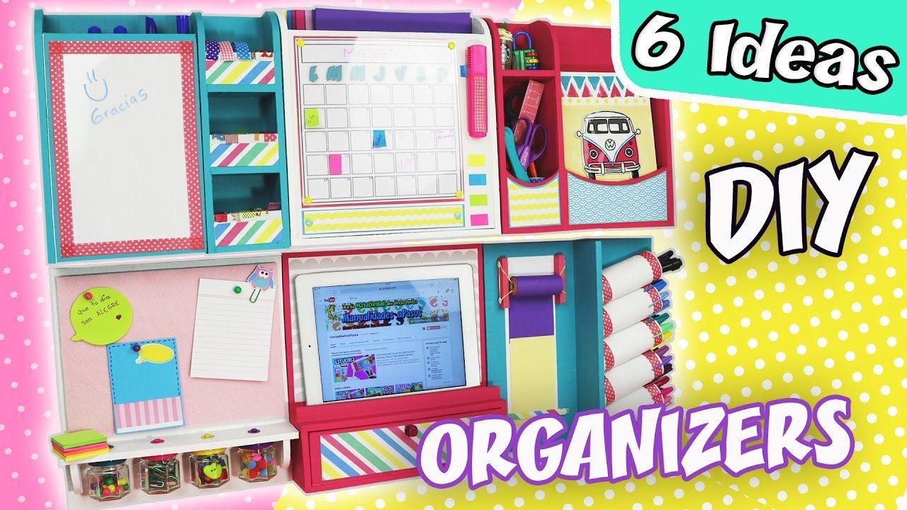 6 Diy Ideas Wall Organizers Apasos Crafts Diy Desk