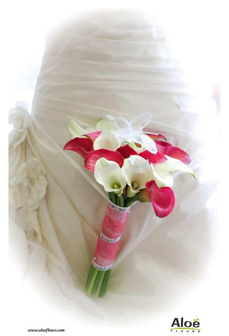 Bouquet de mariée rose : la couleur. Et souvent avec des roses !