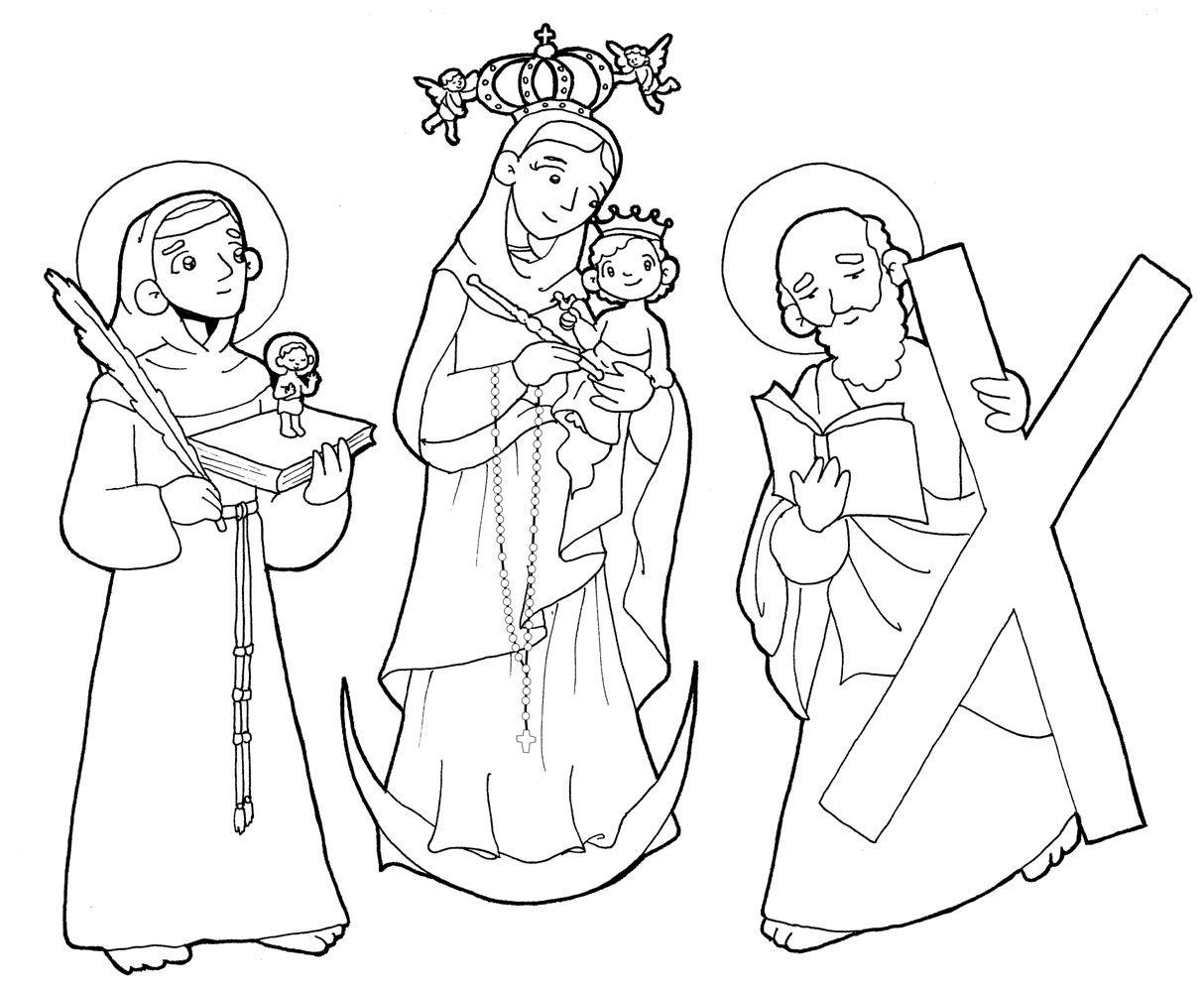 NUESTRA SEÑORA DEL ROSARIO DE CHIQUINQUIRÁ para pintar. | Virgen ...