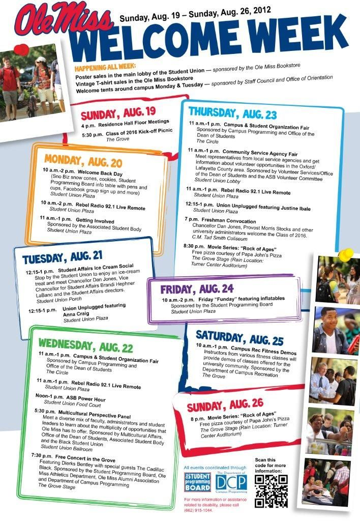 Ole Miss Academic Calendar.Cute Fun Poster Layout For Calendar Of Activities For My Booster