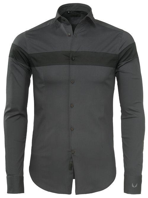 fb9d5c60e9d70b Herenkleding · Overhemd · Mannen · Junin Zumo Shirt Long Slvs Dark Grey-Black  - Shirts - Zumo International