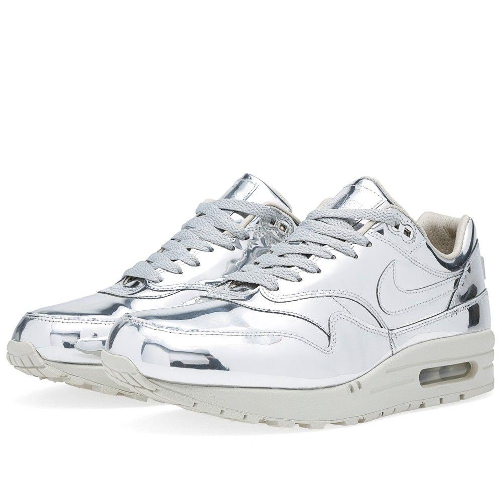 Nike air max 1 running shoes - Nike Air Max 1 Sp Liquid Silver