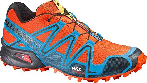 Salomon Men's Speedcross 3 Shoes George Orange Methyl Blue