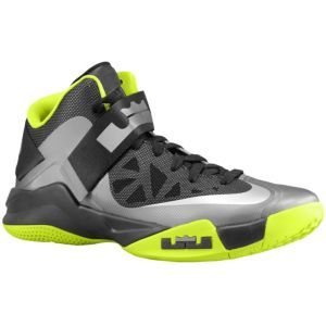 buy online 8c7cd 9f438 Nike Zoom Soldier VI - Men s - Basketball - Shoes - Cool Grey Black Atomic  Green