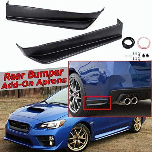 Fits For 2011-2014 Subaru Impreza WRX Sti 2pc CS Style Rear Bumper Aprons Spats Splitter Valance