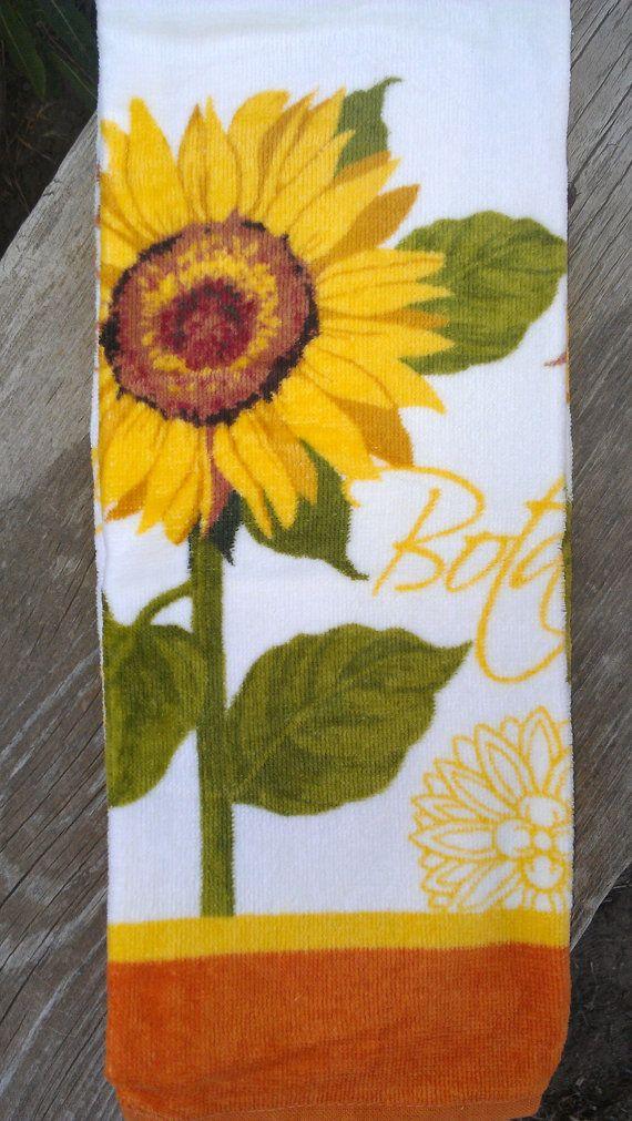 Sunflower Kitchen Towel Set By Gourmettowels On Etsy Sunflower Kitchen Kitchen Towel Set Etsy