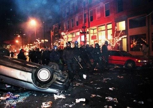 Let's put Ferguson in perspective. White people rioting over stupid stuff (not for justice).