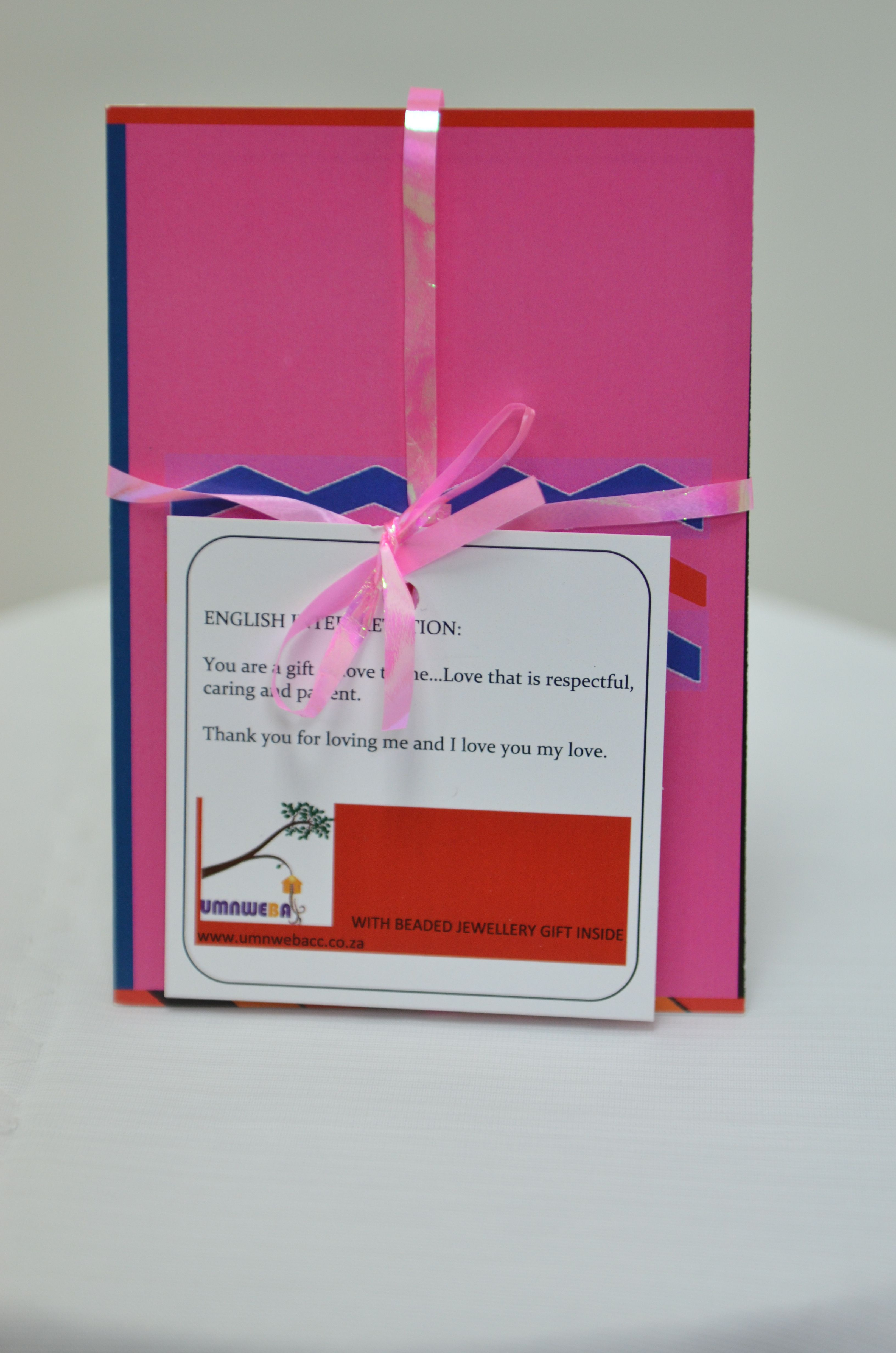 Umnweba Love Card An Authentic African Greeting Card Written In