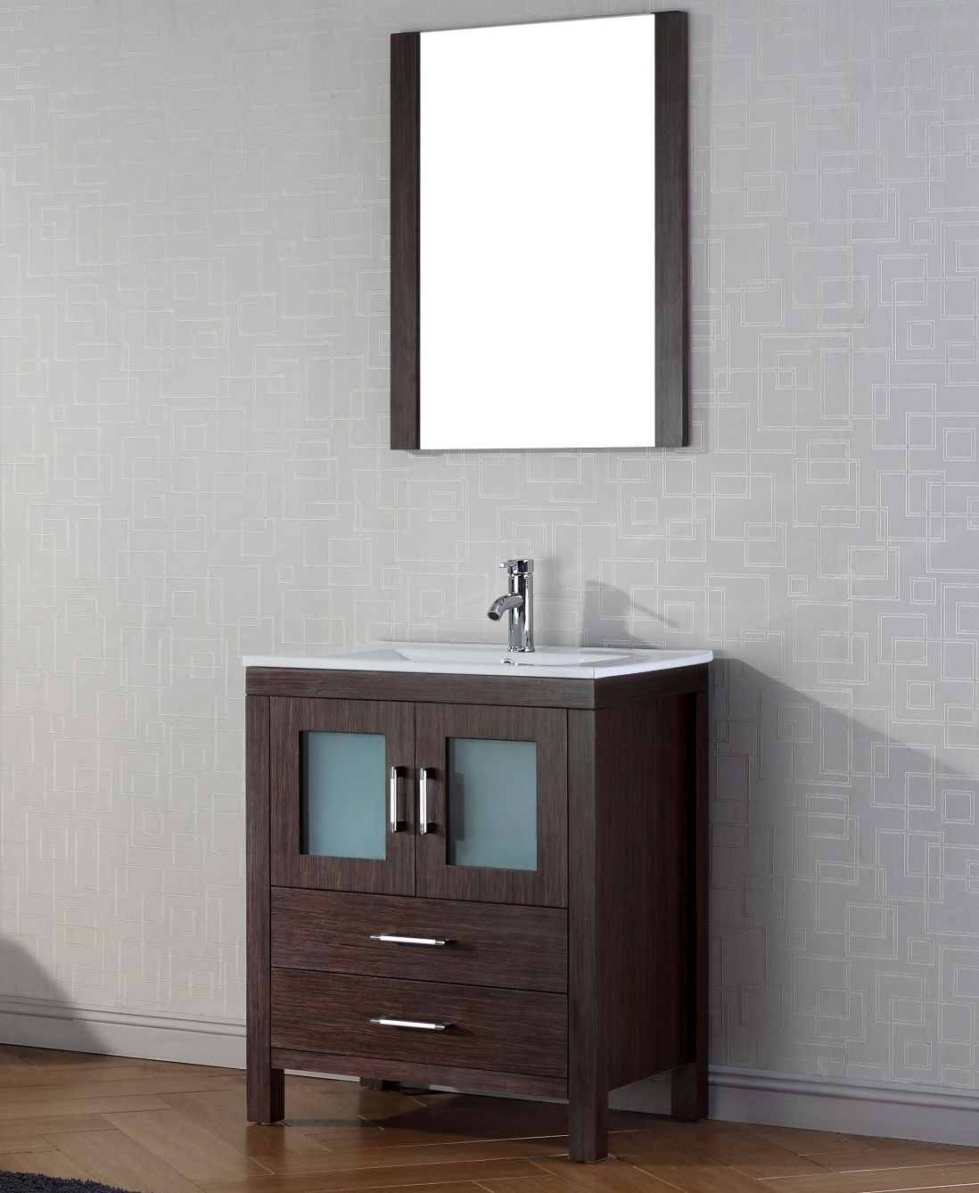 Abodo 28 Inch Single Sink Bathroom Vanity Espresso Finish Bathroom Vanity Single Bathroom Vanity Vanity Set With Mirror
