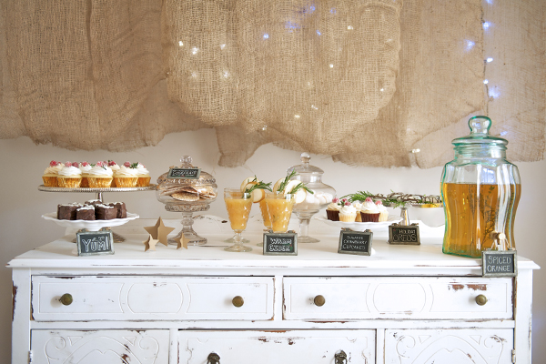 Dessert Table   Vintage Decor Rentals - The Sugar Post.  Cupcakes - Little Cakes Cupcakes.  Photography & Styling - Catalina Bloch