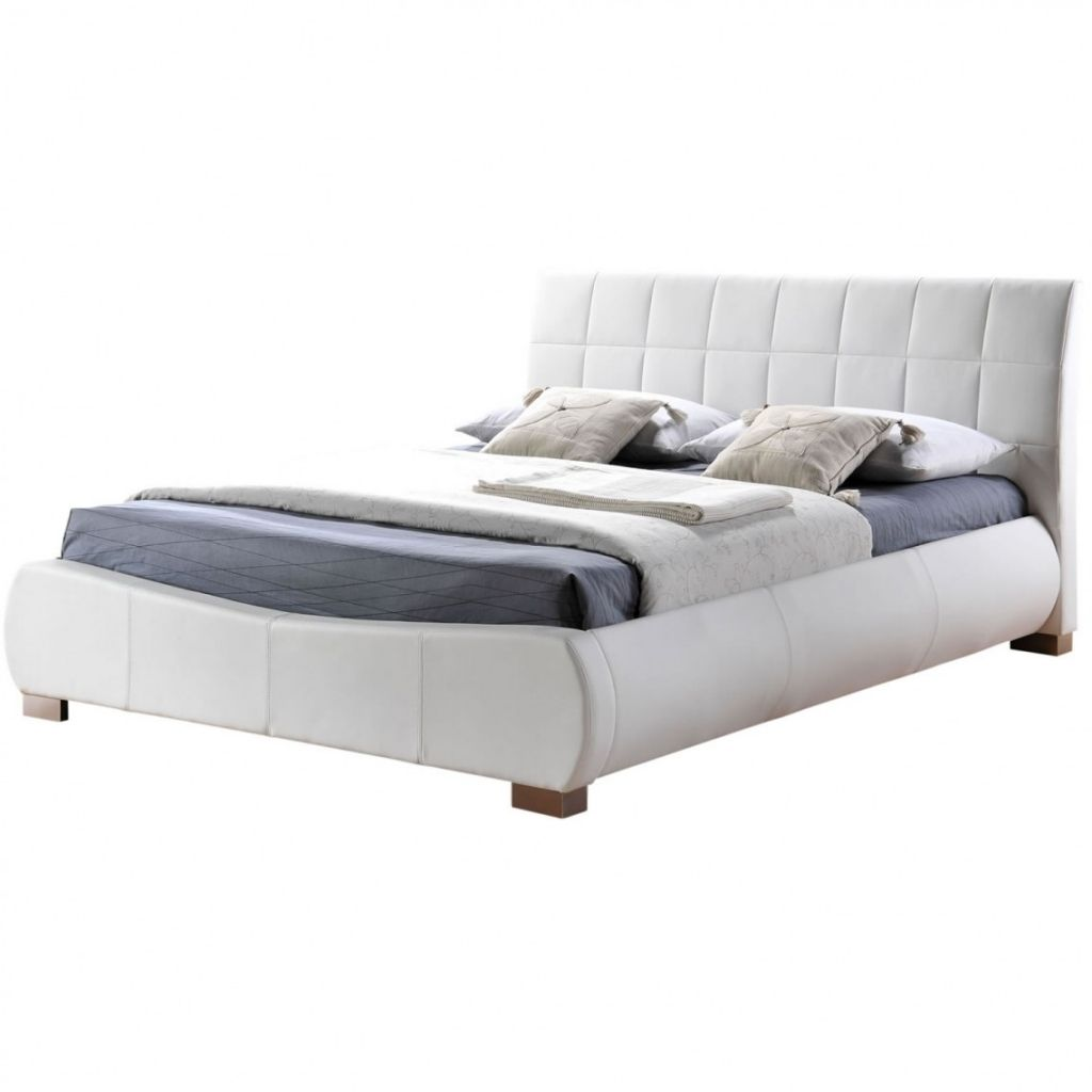 awesome White Leather Bed Frame | home design | Pinterest | White ...