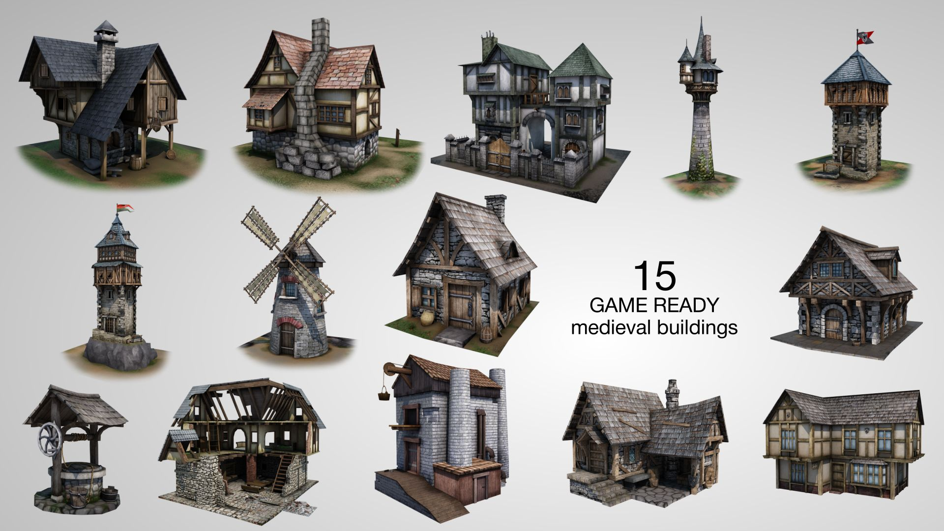 Medieval buildings google search dark fantasy for 3d house building games online