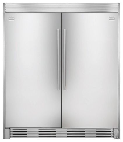 Fridgidaire Professional Series All Refrigerator S1 543 00 A Custom Trim Kit Panel Makes This 32 Inch Freestanding Counter Depth Unit Look Like One Huge