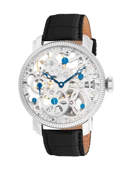 Akribos XXIV Men's Round Stainless Steel Watch