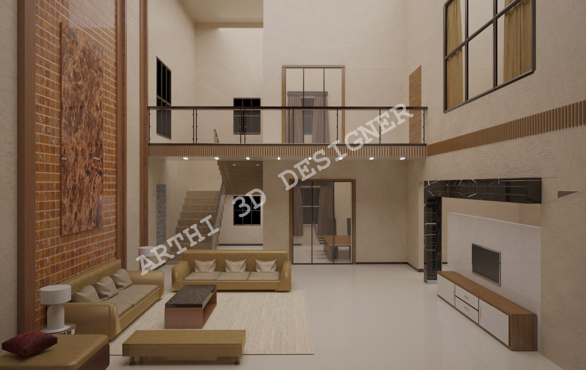 Realistic 3d Architectural Modular Living Room Design Interior Designer Creative Innovative Design Archit House Styles 3d Living Room Gorgeous Interiors