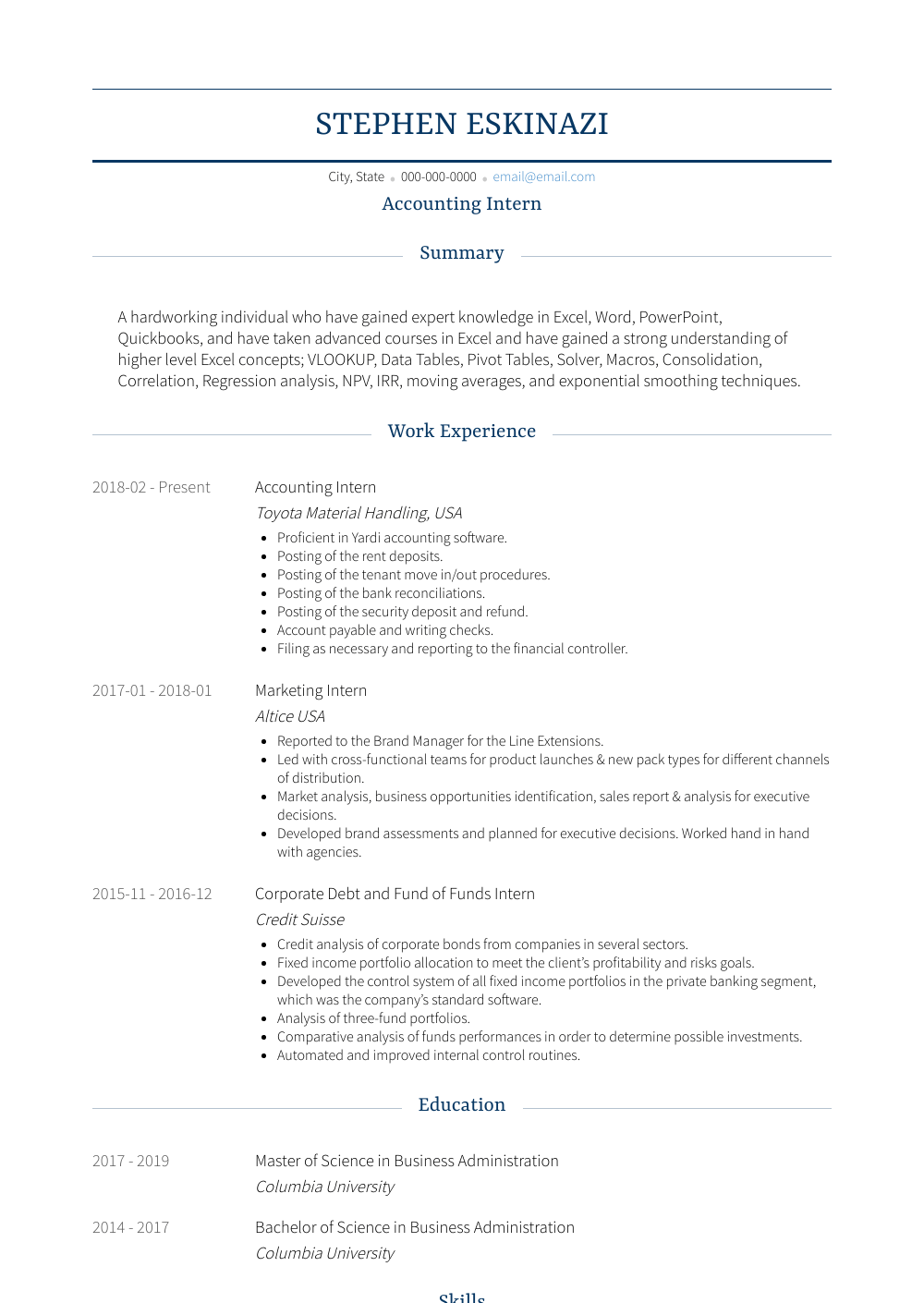 resume template education first in 2020 Job resume