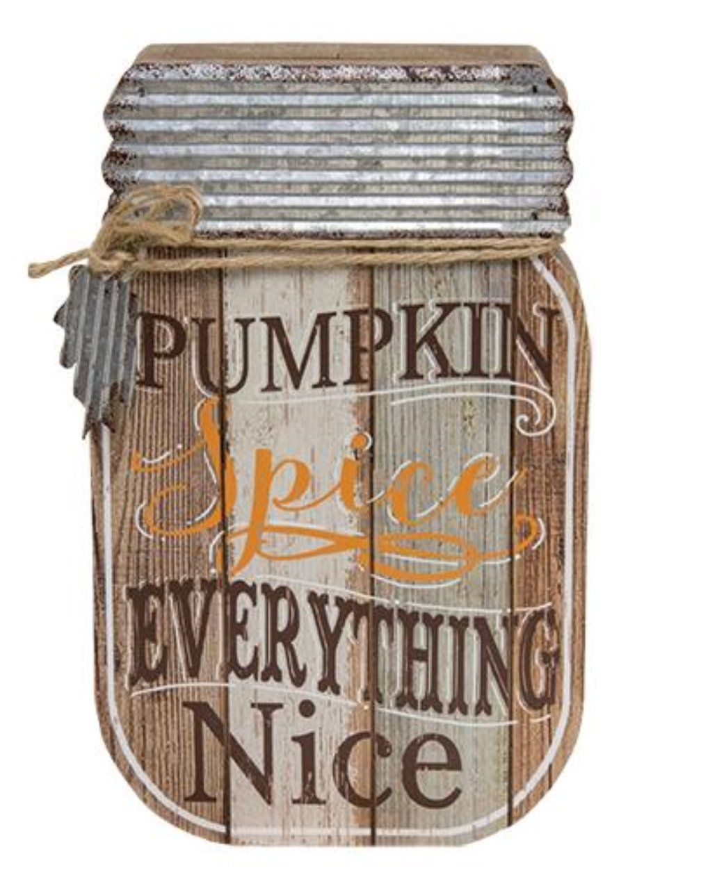 Pumpkin Spice Everything Nice Mason Jar Hanger | Mason jar ...