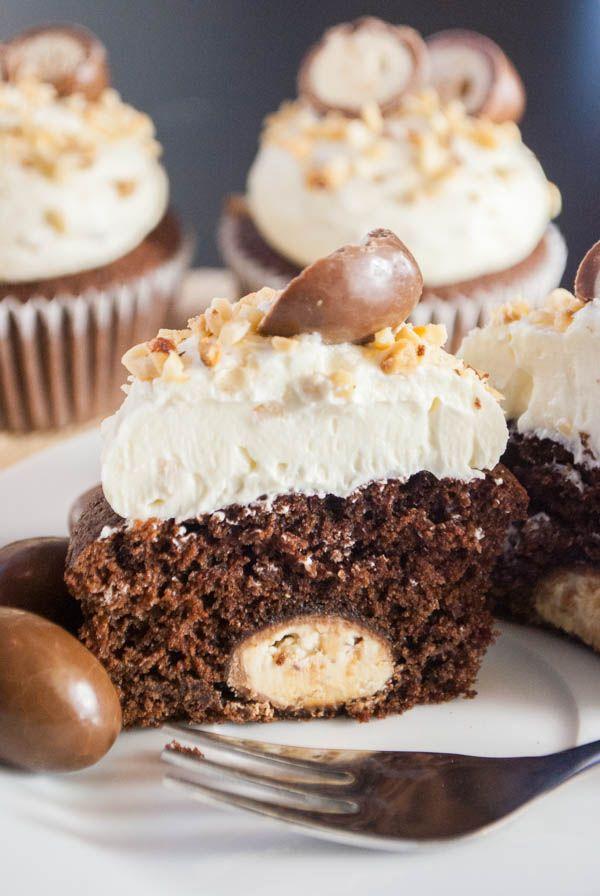 Kinder Schoko Bon Cupcakes Rezept Backen Pinterest Schoko