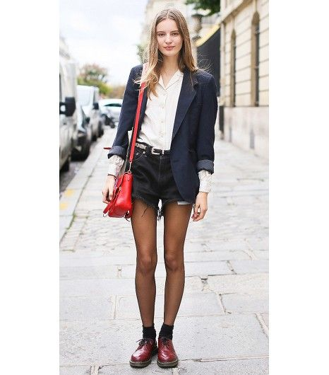 The Lazy Girl's Guide To Looking Like A Model Off Duty | Chunky shoes,  Cherry red and Dr martens