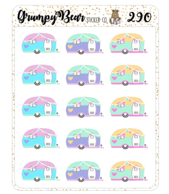 Me And My Big Ideas 4.5 X 6 Inches Mini StickersHappy Campers